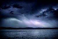 Lightning over Lake travers